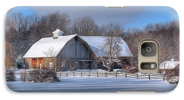 Galaxy Case featuring the photograph Winter On The Farm 14586 by Guy Whiteley