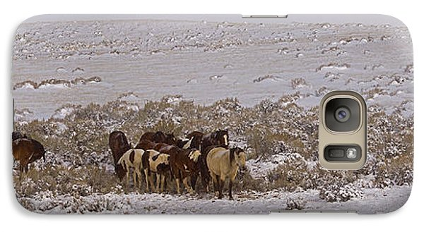 Galaxy Case featuring the photograph Winter On The Mccullough Range  16x52 by J L Woody Wooden