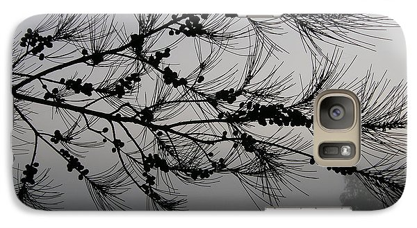 Galaxy Case featuring the photograph Winter Pine Branch by Bev Conover