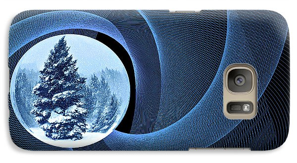 Galaxy Case featuring the photograph Winter Pines by Judy  Johnson