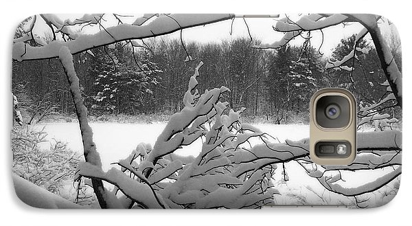 Galaxy Case featuring the photograph Winter Pond by Kathi Mirto