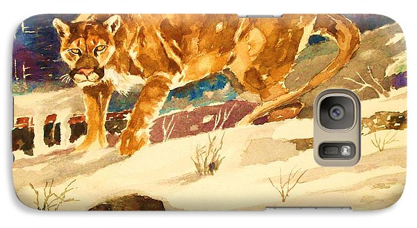 Galaxy Case featuring the painting Winter Prowl by Al Brown