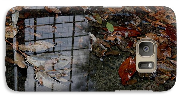 Galaxy Case featuring the photograph Winter Puddle by Maria  Disley
