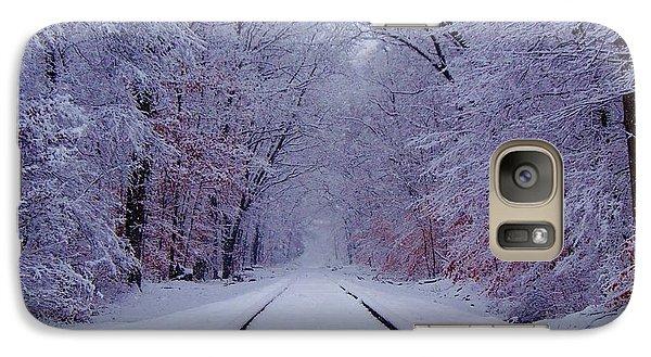 Train Galaxy S7 Case - Winter Rails by Greg Kear