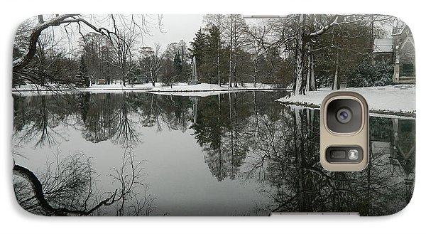 Galaxy Case featuring the photograph Winter Reflections 2 by Kathy Barney