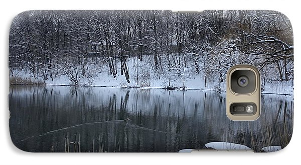 Galaxy Case featuring the photograph Winter Reflections by Dora Sofia Caputo Photographic Art and Design