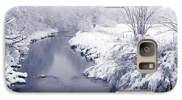 Galaxy Case featuring the photograph Winter River by Liz Leyden