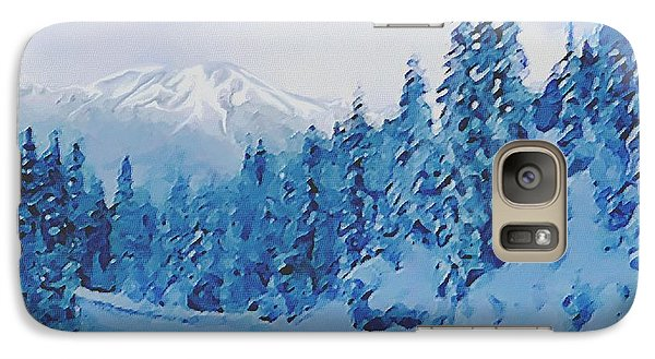 Galaxy Case featuring the painting Winter Road by Sophia Schmierer