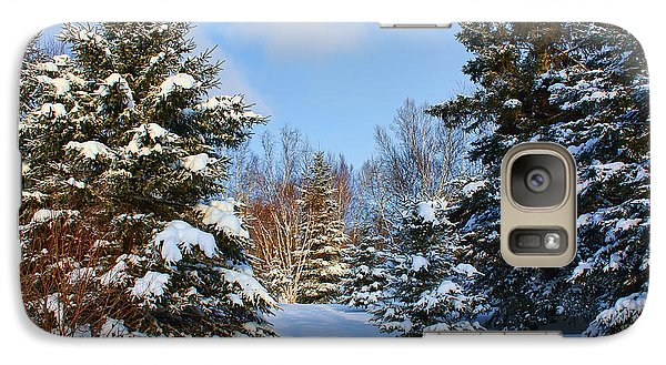 Galaxy Case featuring the photograph Winter Scenery by Teresa Zieba