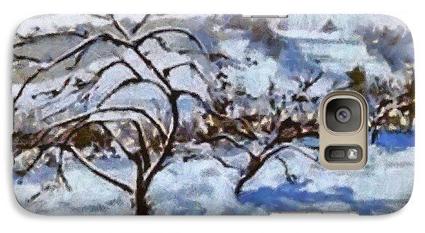 Galaxy Case featuring the painting Winter Shadows by Elizabeth Coats