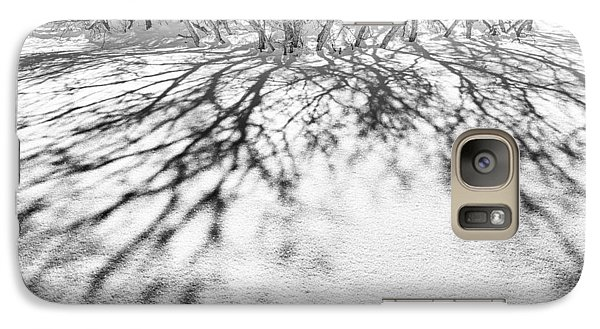 Galaxy Case featuring the photograph Winter Shadows by The Forests Edge Photography - Diane Sandoval