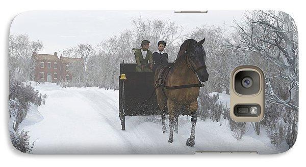 Galaxy Case featuring the digital art Winter Sleigh Ride by Jayne Wilson