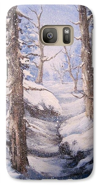 Galaxy Case featuring the painting Winter Snow by Megan Walsh