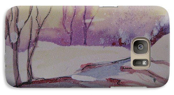 Galaxy Case featuring the painting Winter Snow Scene by Gretchen Allen