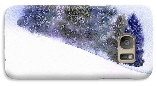 Galaxy Case featuring the painting Winter Snowfall by Anne Duke