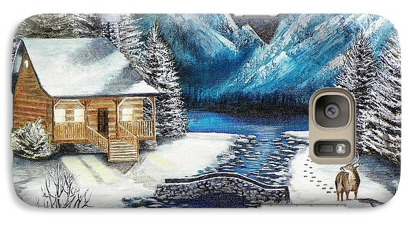 Galaxy Case featuring the painting Winter Solstice by Kevin F Heuman