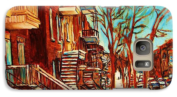 Galaxy Case featuring the painting Winter Staircase by Carole Spandau