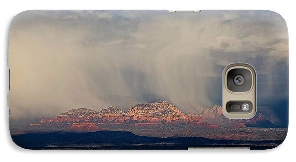 Galaxy Case featuring the photograph Winter Storm Approaches Sedona by Ron Chilston