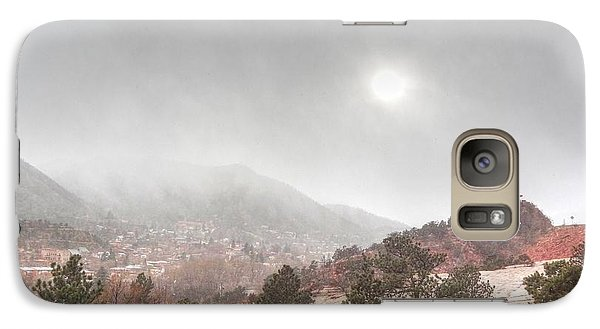 Galaxy Case featuring the photograph Winter Storm In Summer With Sun by Lanita Williams