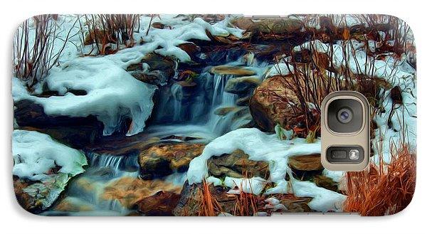 Galaxy Case featuring the digital art Winter Stream by Dennis Lundell