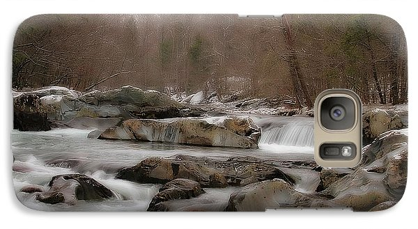 Galaxy Case featuring the photograph Winter Stream by Geraldine DeBoer