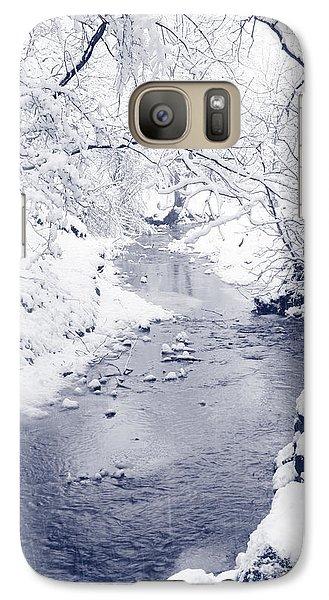 Galaxy Case featuring the photograph Winter Stream by Liz Leyden