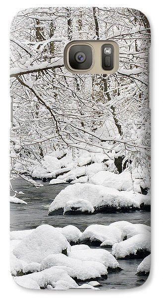 Galaxy Case featuring the photograph Winter Stream by Timothy McIntyre