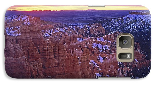 Galaxy Case featuring the photograph Winter Sunrise At Bryce Canyon by Susan Rovira