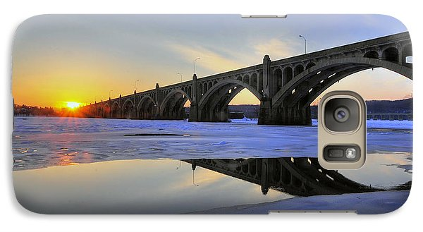 Galaxy Case featuring the photograph Winter Sunset by Dan Myers