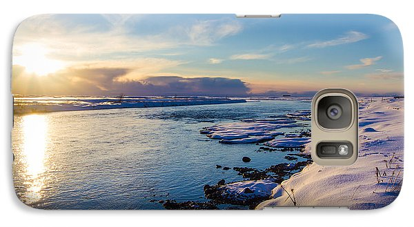 Galaxy Case featuring the photograph Winter Sunset In Iceland by Peta Thames