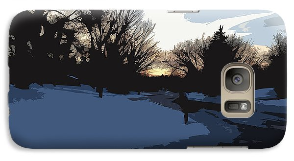 Galaxy Case featuring the digital art Winter Sunset by Kirt Tisdale
