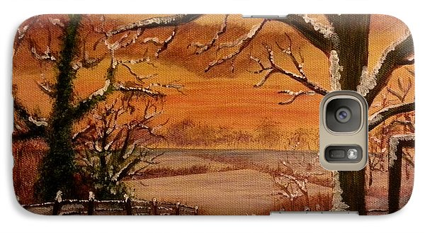 Galaxy Case featuring the painting Winter Sunset  Lll by Elizabeth Coats