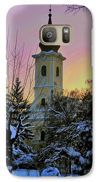Galaxy Case featuring the photograph Winter Sunset by Nina Ficur Feenan