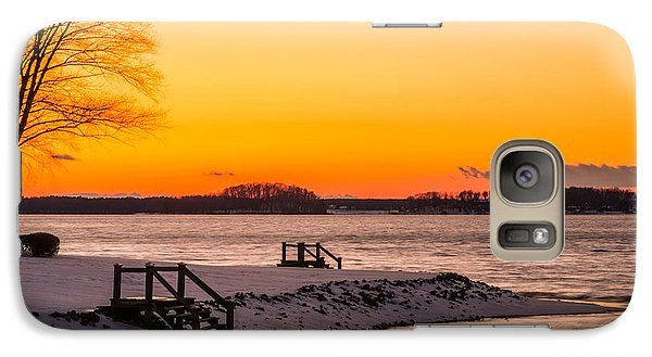 Galaxy Case featuring the photograph Winter Sunset by Serge Skiba