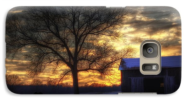 Galaxy Case featuring the photograph Winter Sunset by Skip Tribby