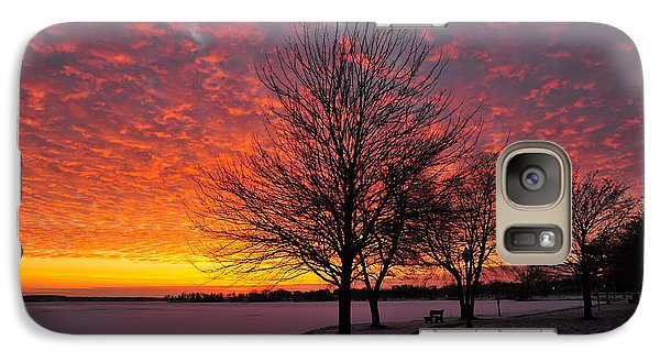 Galaxy Case featuring the photograph Winter Sunset by Terri Gostola