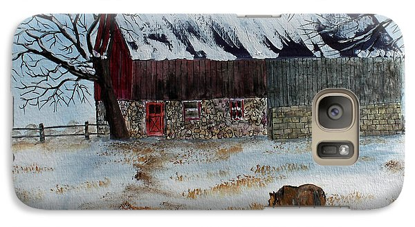 Galaxy Case featuring the painting Winter Tidbits by Jack G  Brauer