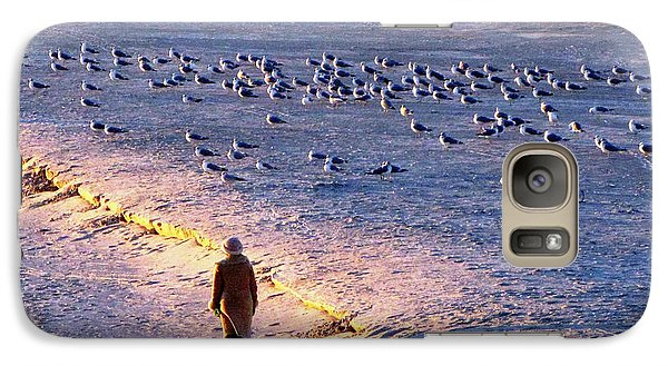Galaxy Case featuring the photograph Winter Time At The Beach by Cynthia Guinn