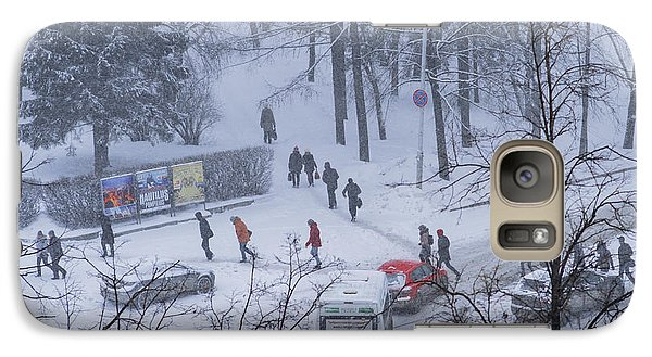Galaxy Case featuring the photograph Winter Traffic by Vladimir Kholostykh