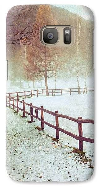 Winter Tree With Fence Galaxy S7 Case by Silvia Ganora
