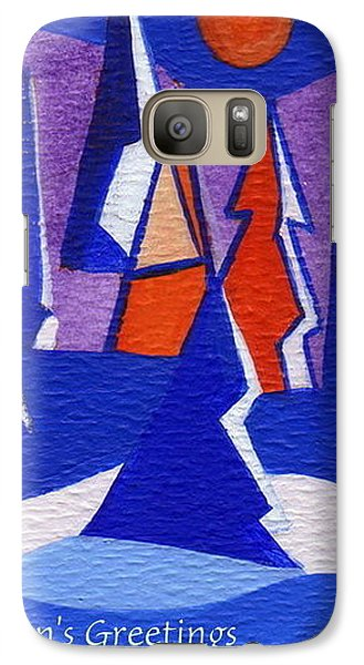 Galaxy Case featuring the painting Winter Trees by Joyce Gebauer