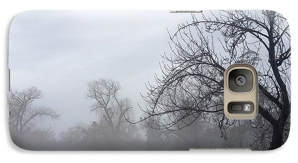 Galaxy Case featuring the photograph Winter Trees With Mist by Jeannie Rhode
