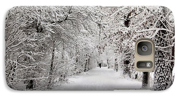 Galaxy Case featuring the photograph Winter Walk In Fairytale  by Annie Snel