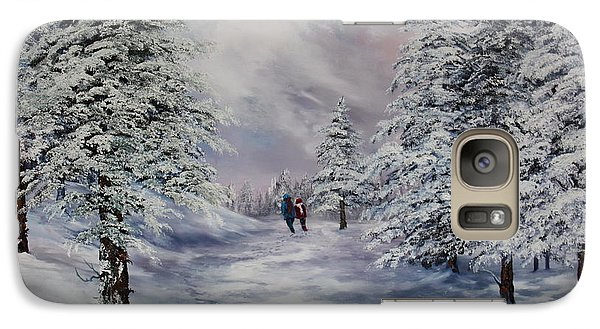 Galaxy Case featuring the painting Winter Walk On Cannock Chase by Jean Walker
