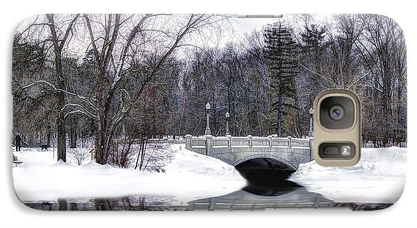 Galaxy Case featuring the photograph Winter Walk by Skip Tribby