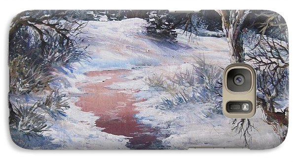 Galaxy Case featuring the painting Winter Warmth by Megan Walsh