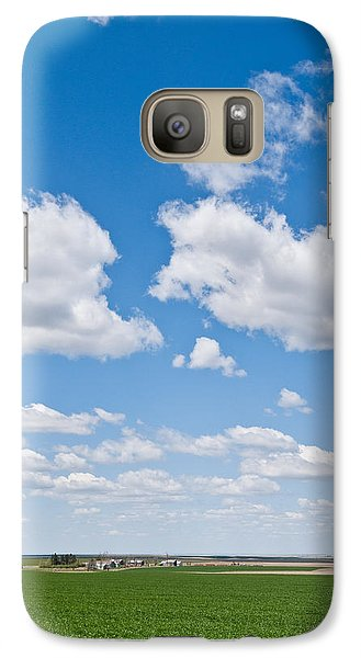 Galaxy Case featuring the photograph Winter Wheat Farm In The Palouse by Jeff Goulden