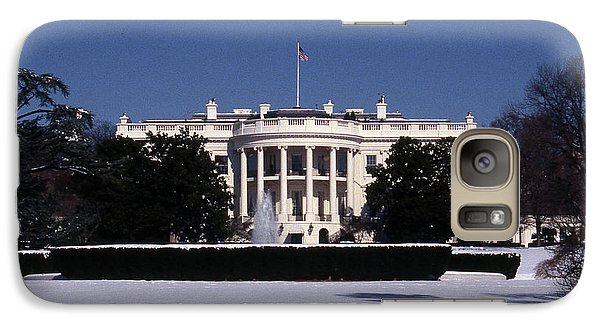 Winter White House  Galaxy Case by Skip Willits