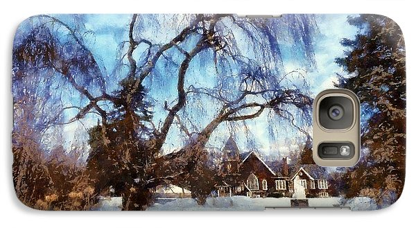 Galaxy Case featuring the photograph Winter Willow In Mountainhome - Church by Janine Riley
