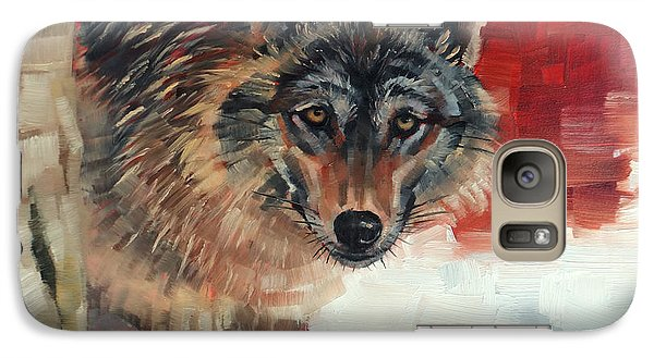 Galaxy Case featuring the painting Winter Wolf by Margaret Stockdale